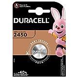 Pile bouton lithium Duracell spéciale 2450 3V, pack de 1 (DL2450/CR2450),...