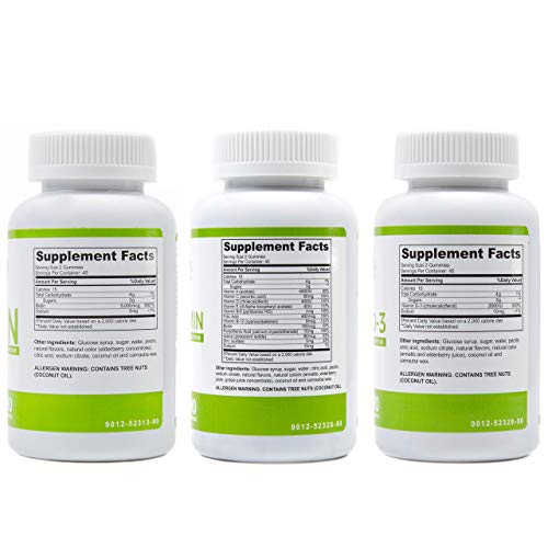 BariSlim Bariatric Multivitamin 3 Pack – (Multivitamin, Biotin, and D3) - Specially Formulated Gummy Vitamins for Patients After Weight Loss Surgery – 90 Fruit Chews per Bottle 5