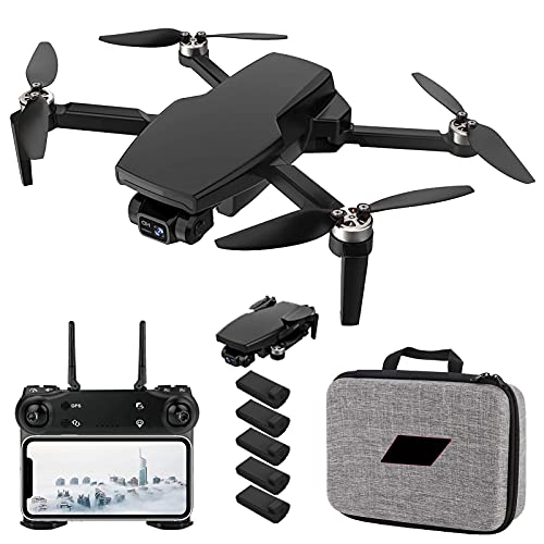GZTYLQQ 2021 Nuovo Drone GPS con Fotocamera 4K per Adulti, Quadricottero RC a 2 Assi WiFi 5G con Video in Diretta FPV GPS Ritorno a casa Motore brushless Seguimi Tempo di Volo di 25 Minuti