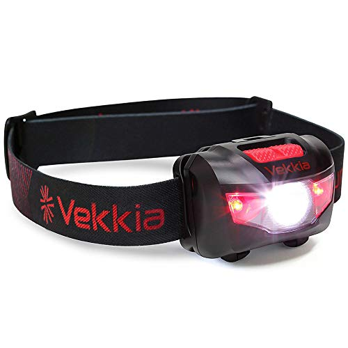 Ultra Bright CREE LED Headlamp - 160 Lumens, 5 Lighting Modes, White & Red...