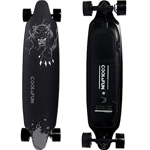 RCB Longboard Skateboard Électrique avec télécommande, Planche Design à roulettes 4 Roues, Batterie Durable, Monteur Puissant