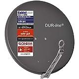 DUR-line Select 75/80cm Anthrazit Satelliten-Schüssel - 3 x Test + Sehr gut + Aluminium Sat-Spiegel