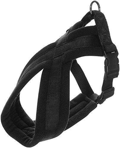 Hundegeschirr Premium Gepolstert - Grösse: L bis XL - Cross Geschirr schwarz