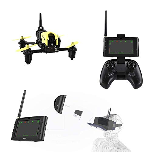 Hubsan X4 H122D Drone Storm Professional Version FPV Racing Drone 3D Flip with LCD Video Monitor and HV002 Goggle.(Advance Drone Battery Included)