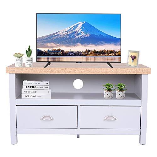 Ease Mobile per TV con 1 scomparto aperto e 2 cassetti, in stile moderno, da 87,5 x 44 x 48 cm