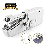 W-Dragon Handheld Sewing Machine, Cordless Handheld Electric Sewing Machine, Quick Handy Stitch for Fabric Clothing Kids Cloth Pet Clothes (Battery Not Included)
