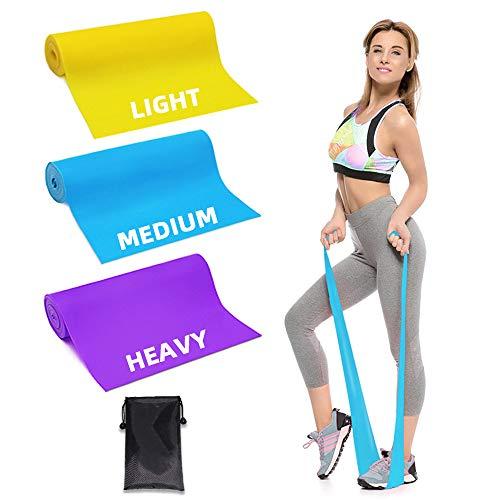 Trongle Lambony Bande Elastiche Fitness, 3 Livelli di Resistenza per Fisioterapia, Pilates, Yoga,...