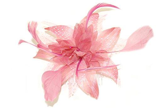 Tocado de flores y plumas Fascinator de Juelz, se ajusta con