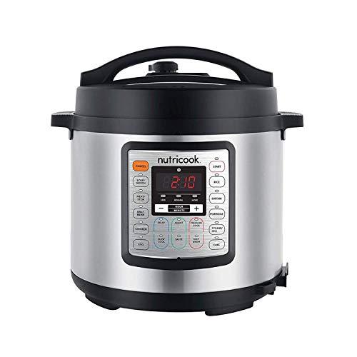 NUTRICOOK Smart Pot by NUTRIBULLET EKO 1000 Watts - 9 in 1 Multi Cooker, 6 LTR, Brushed Stainless...