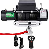 OFF ROAD BOAR 13000-lb. Load Capacity Electric Winch Kit, 12V Synthetic Rope Winch with Hawse Fairlead, Waterproof IP67 Towing Winches with Both Wireless Handheld Remote and Corded Control