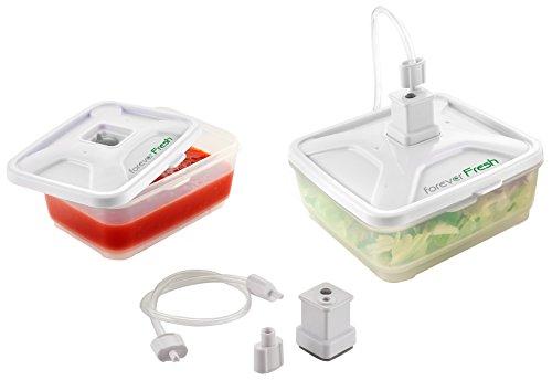 Macom Forever Fresh 705. Set Universale con 2 Contenitori per Macchine Sottovuoto Alimenti, 600 ml e 900 ml