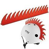 XPRIT Mohawk, Warhawk Wig Accessory Adhesive/Stick On Helmet for Skateboarding, Dirt-Bikes, Motorcycle, Cycling (Orange Warhawk)