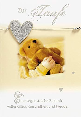 Karte zur Taufe Lifestyle - Teddy - 11,6 x 16,6 cm