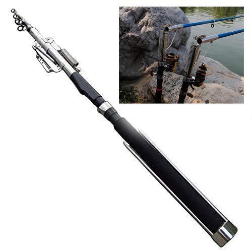 2.1m - 2.4m Canna da pesca automatica senza mulinello - mare, fiume, lago, canna da pesca dello stagno con l'hardware dell'acciaio inossidabile