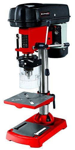 Einhell - Trapano a colonna TC-BD 350, 350 W, 580-2650 g/min, velocità regolabile su 5 livelli, rotazione a 3 bracci, inclinabile fino a 45°, orientabile e regolabile in altezza, protezione trucioli