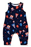 Baby Boys Tanks Rompers 3D Printed Cool 4th of July Onesies for Big Sister Little Brother Cute Red...