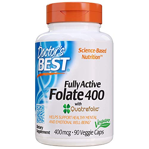 Doctor's Best Fully Active Folate with Quatrefolic NonGMO...