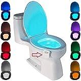 Lampe de Toilette, Veilleuse LED pour WC Salle de Bain Capteur Détecteur PIR 8...