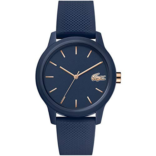 Lacoste Damen Analog Quarz Uhr mit Silikon Armband 2001067