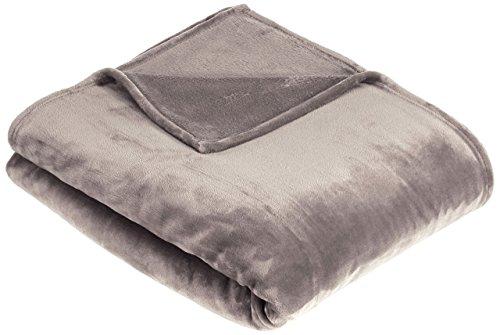 AmazonBasics - Manta Snuggle, hecha de suave felpa - 168 x 229cm - Gris