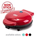 "Dash DEWM8100RD Express 8"" Waffle Maker Machine for Individual Servings, Paninis, Hash browns + other on the go Breakfast, Lunch, or Snacks, with Easy Clean, Non-Stick Sides, Red"