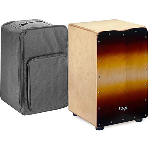 Stagg CAJ-50M Standard Size Birch Cajon - Sunburst Front Board Finish