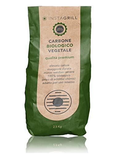 Carbone Biologico Vegetale di Legna di Faggio e Leccio 2.5 kg | Carbone per Barbecue, Grill,...