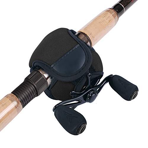 Borsa da Pesca con Mulinello - Spinning Reel Cover, Baitcasting Spin Reel Custodia Protettiva for Spinning Canna da Pesca (Colore : Black)