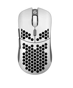 Hati HT-M 3360 Ultra Lightweight Honeycomb Shell Wired Gaming Mouse up to 12000 cpi - 6 Buttons - 2.18 oz (61g) (Glossy White)