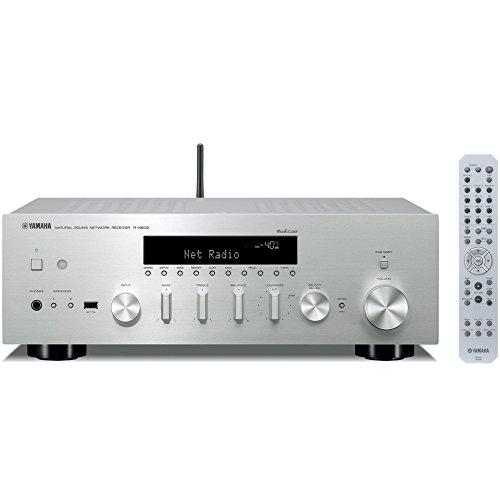 ヤマハ ネットワークHiFiレシーバー ワイドFM・AMチューナー/Wi-Fi/Bluetooth/ハイレゾ音源対応 シルバー R...