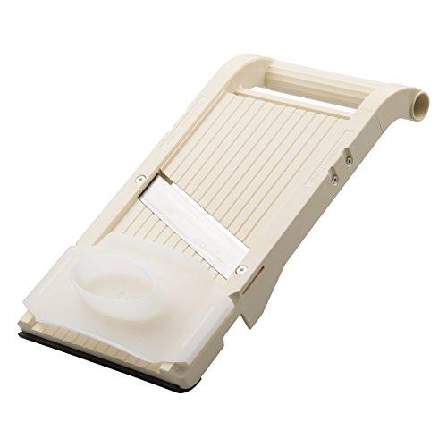 Benriner Mandoline Jumbo trancheuse sans BPA avec lame en acier inoxydable japonaise fabriquée à la main, 33 x 16,5 cm