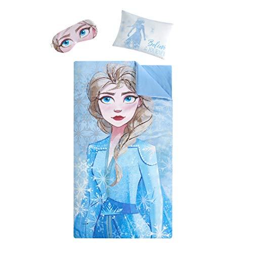 Disney Frozen 2 Sleepover Set with Sleeping Bag, Pillow & Eye Mask