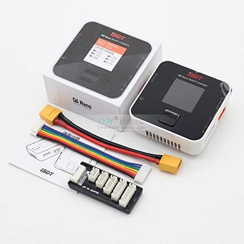 SHUGJAN NUOVO ISDT Q6 Nano BattGo 200W 8A colorato tasca caricatore dell'equilibrio della batteria for 1-6S Lipo Batteria for RC FPV Drone Parti di assemblaggio RC (Color : With xt60 wire)