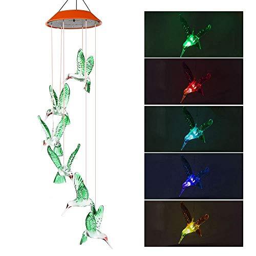 Vegena Windspiele für Draußen, Windspiel Solar Gartenleuchte Gartenbeleuchtung Solarleuchte Deko Garten Gartenlampe Wasserdicht LED Solarlampen für Terrasse Deck Hof Rasen Hinterhöfe Wege