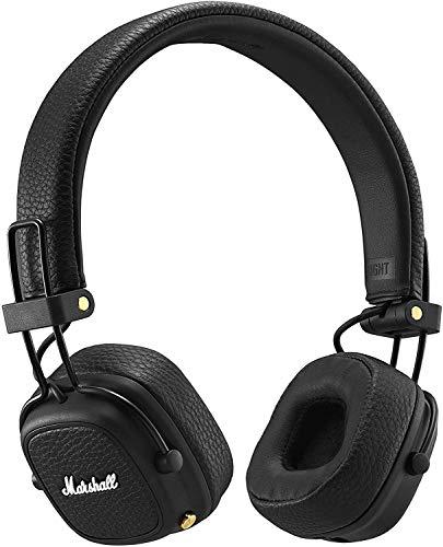 Marshall Major III Auriculares Bluetooth Plegables (Supraaural, Diadema, Inalámbrico y alámbrico, 20-20000 Hz, 97 Db), Negro