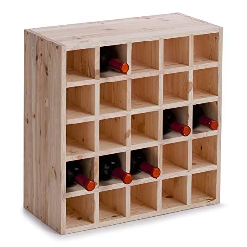 Zeller 13172 Portabottiglie di Vino, Legno, Beige, 52x25x52 cm