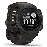 Garmin  010-02064-00 Instinct, Rugged Outdoor Watch with GPS, Features Glonass and Galileo, Heart Rate Monitoring and 3-Axis Compass, Graphite, 1.27'
