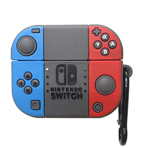 LICHIFIT - Custodia protettiva in silicone per auricolari wireless Bluetooth per Apple AirPods Pro per Nintendo Switch, design con fibbia