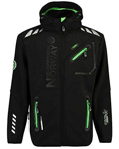 Geographical Norway - Softshell Rainman Noir-Taille - L