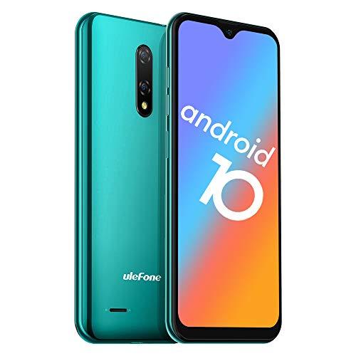 Telephone Pas Cher Android 10 4G Ulefone Note 8 P Telephone Portable Debloqué Pas Cher 2Go RAM 16Go ROM avec Fente 3 en 1, Écran de 5,5 Pouces, 8MP Triple Caméras, Face ID, Dual SIM Smartphone Enfant