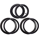 12.5'' Front and 16'' Back Wheel Replacement Inner Tubes and Tires for BoB Stroller Tire Tube Revolution SE/Pro/Flex/SU/Ironman - Made from BPA/Latex Free Premium Quality Butyl Rubber