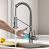 Kraus KSF-1610SFS Bolden Touchless Sensor Commercial Pull-Down Single Handle 18-Inch Kitchen Faucet, Spot Free Stainless Steel