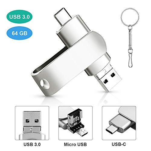 Chiavetta USB 64 GB 3 in 1 Pendrive USB 3.0 Type...