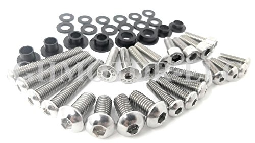 1998 1999 2000 2001 2002 2003 2004 2005 2006 2007 KATANA 600 750 Fairings Bolts Screws Fasteners Kit Set Made in USA Silver