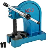 BestEquip Manual Arbor Press 0.5 Ton, Heavy Duty Arbor Press with 4-5/8 Inch Maximum Height, Manual Desktop Arbor Press Cast Iron Material, for Riveting Punching Holes