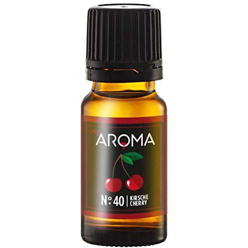 myAROMA | No. 40 (Kirsche, 10 ml) | Rein natürliches Aroma | Geschmackstropfen zum Kochen, Backen & Mixen | ohne Süßung