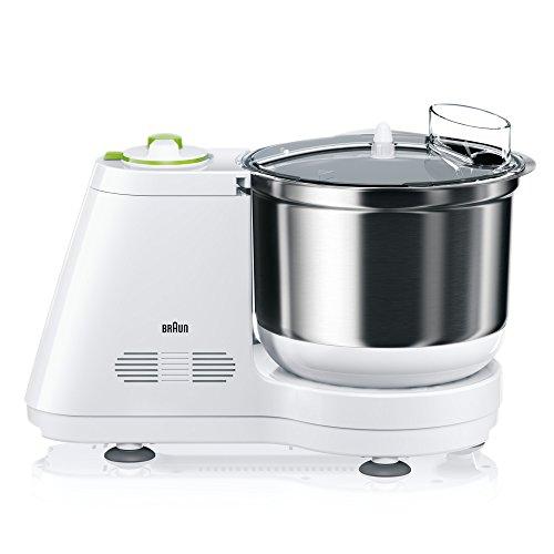 Braun KM 3050 procesador de comida - Robot de cocina (Verde, Color blanco, Acero inoxidable, Masa)