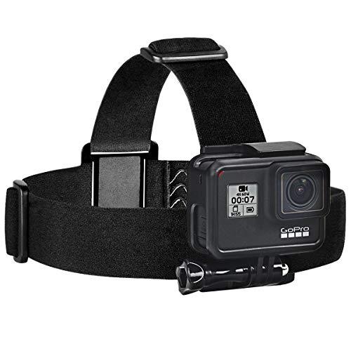 Sametop Head Strap Mount Compatible with GoPro Hero 9, 8 Black, Hero 7 Black, 7 Silver, 7 White, Hero 6, 5, 4, Session, 3+, 3, 2, 1, Hero (2018), Fusion, DJI Osmo Action Cameras