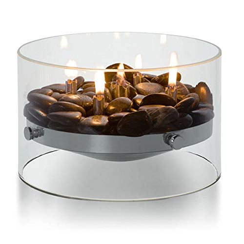Philippi 123118 Tabletop Flame Glass Aluminium Stainless Steel Diameter 23 cm