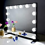 BEAUTME Miroir de Maquillage Hollywood avec lumières LED, Grand Miroir de...
